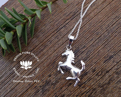 sterling silver horse pendant