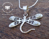 shiva eye shell dragonfly jewellery, 925 silver, pacific cat eye necklace