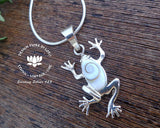 shiva eye shell animal jewellery, 925 silver frog