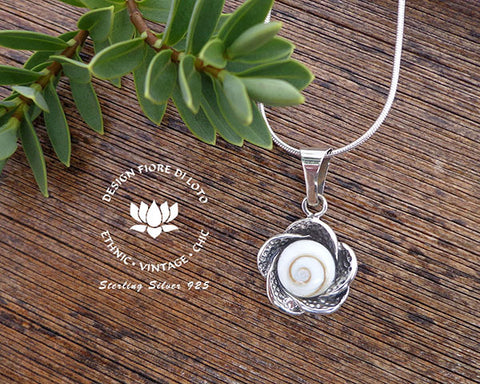 sterling silver rose flower pendant, florist, flora lovers