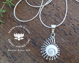 sterling silver ammonite pendant, marine lovers