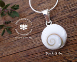 real shell jewellery, hindu symbols, sacred om, aum spiritual jewelry, buddhist pendant, yoga lover jewelry, yoga necklace