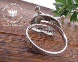 adjustable owl ring, bird lovers, ornithology, silver jewellery