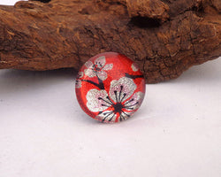 sakura design glass ring