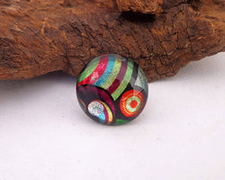 seventies style glass ring