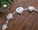 sea shell jewellery, heart bracelet