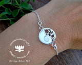shiva eye shell bracelet pacific cat eye jewelry yin yang jewelry elegant silver bracelet