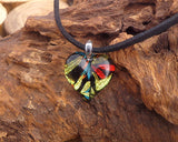heart shaped glass pendant