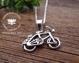 cycling jewellery, bike enthusiasts silver pendants