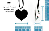 heart shaped pendant dichroic glass pendant fused glass jewelry on black imitation suede cord stainless steel findings