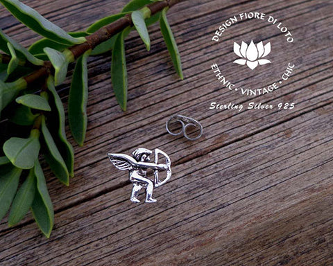 sterling silver cupid studs