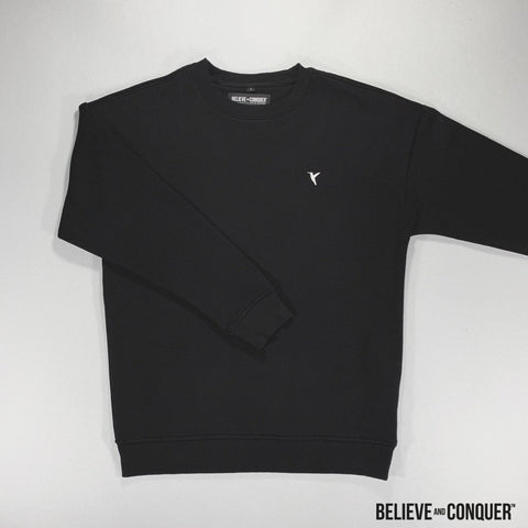 Alpha Man ✯ Black Edition - HD Crew Jumpers
