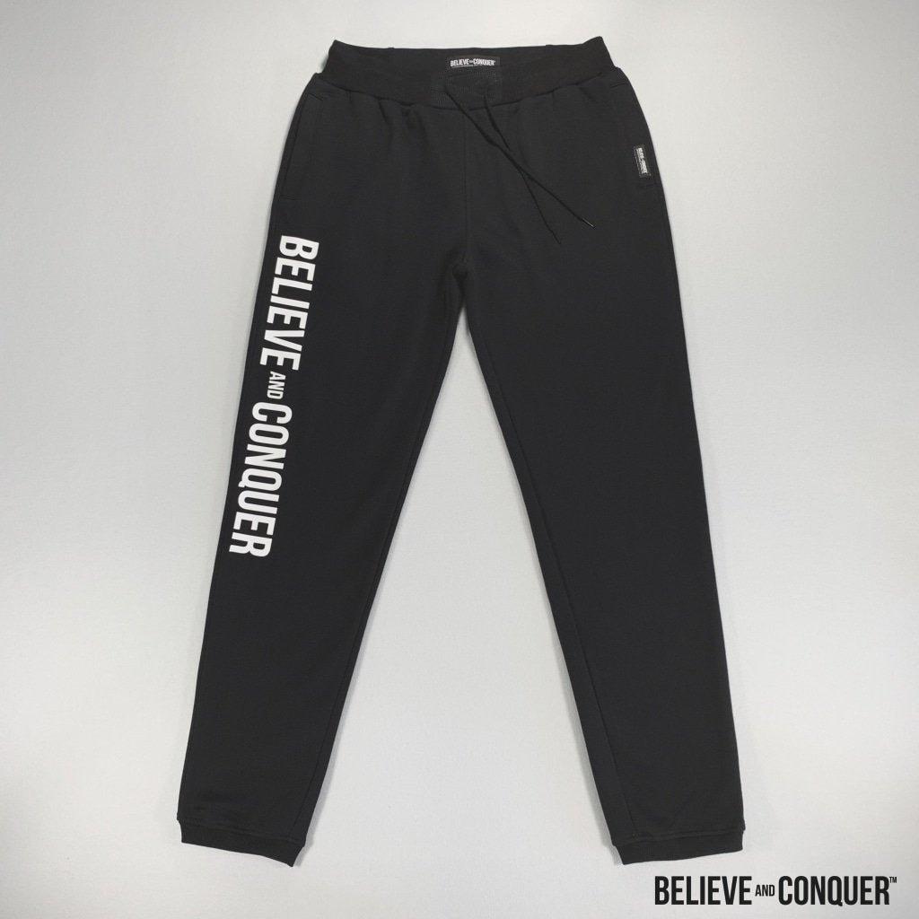 Alpha Man Black Edition - Hd Joggers Small Mens Bottoms