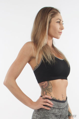 Aurora Sports Bra | Ink Black