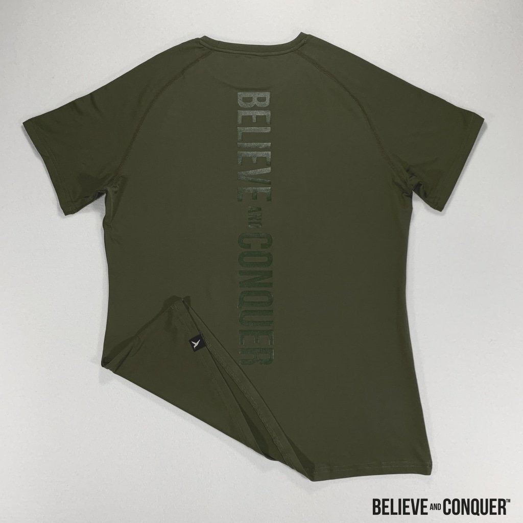 Matrix Compression | Military Khaki Small Mens Tops
