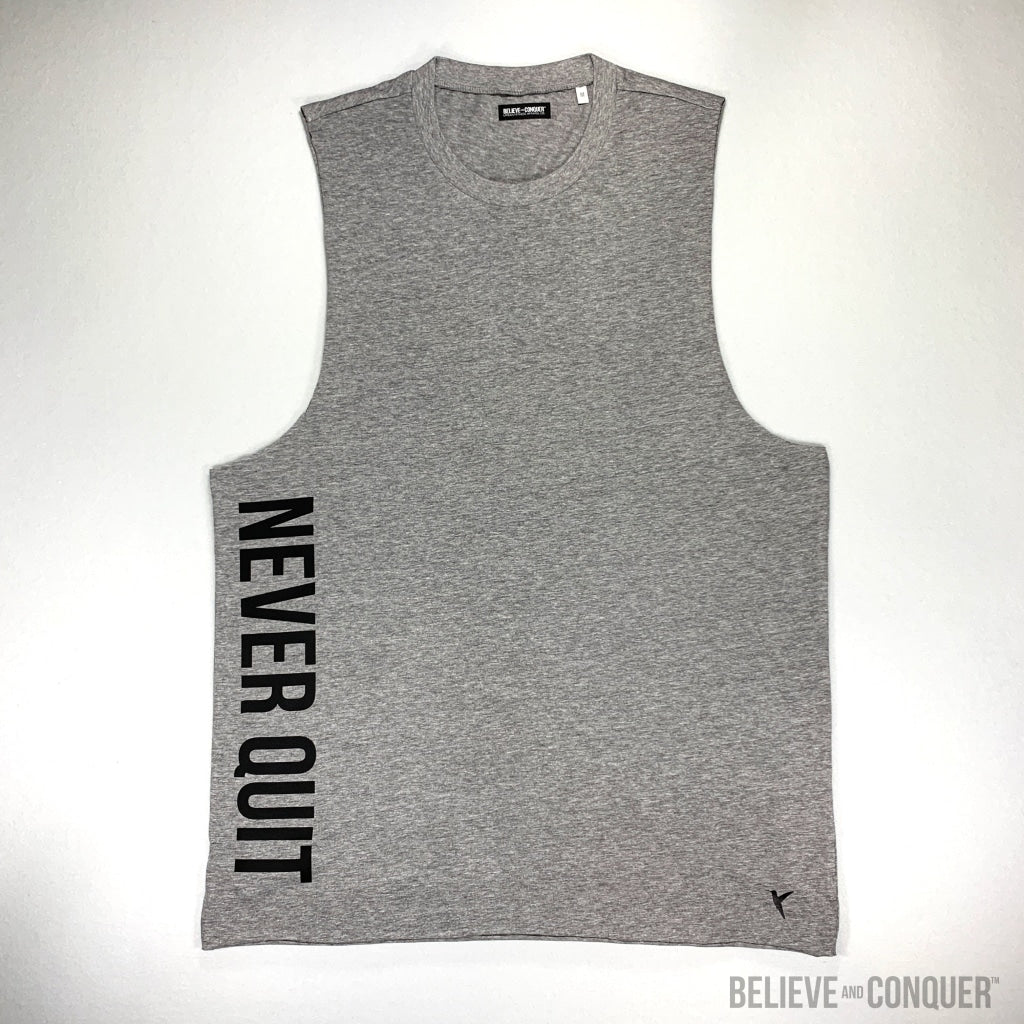 Raw Core Series | Never Quit Vest Small / Grey Mens