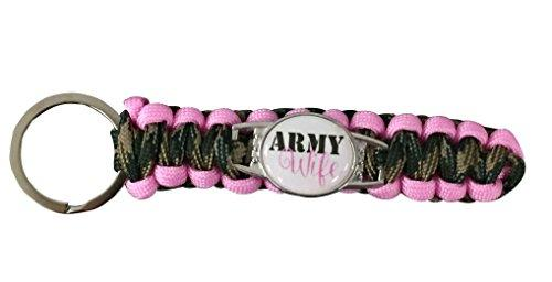 Army Wife Paracord Keychain