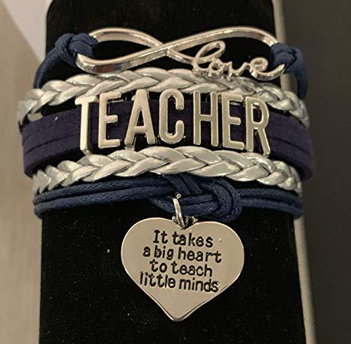Teacher Charm Bracelet- It Takes a Big Heart to Teach Little Minds