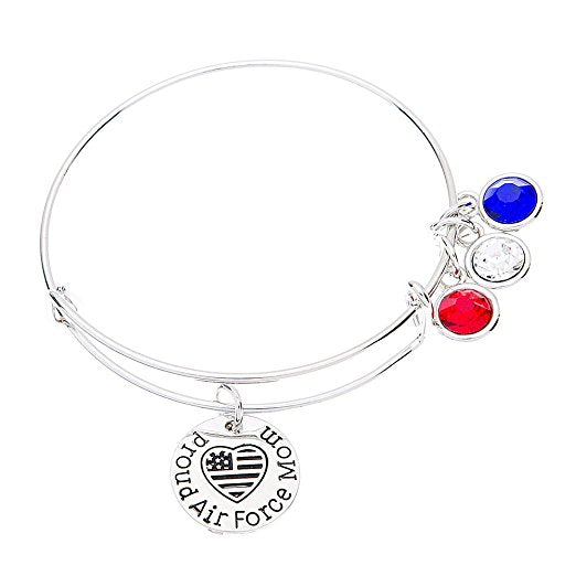 Air force Mom Bangle Bracelet