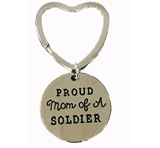 Proud Soldier Mom Keychain