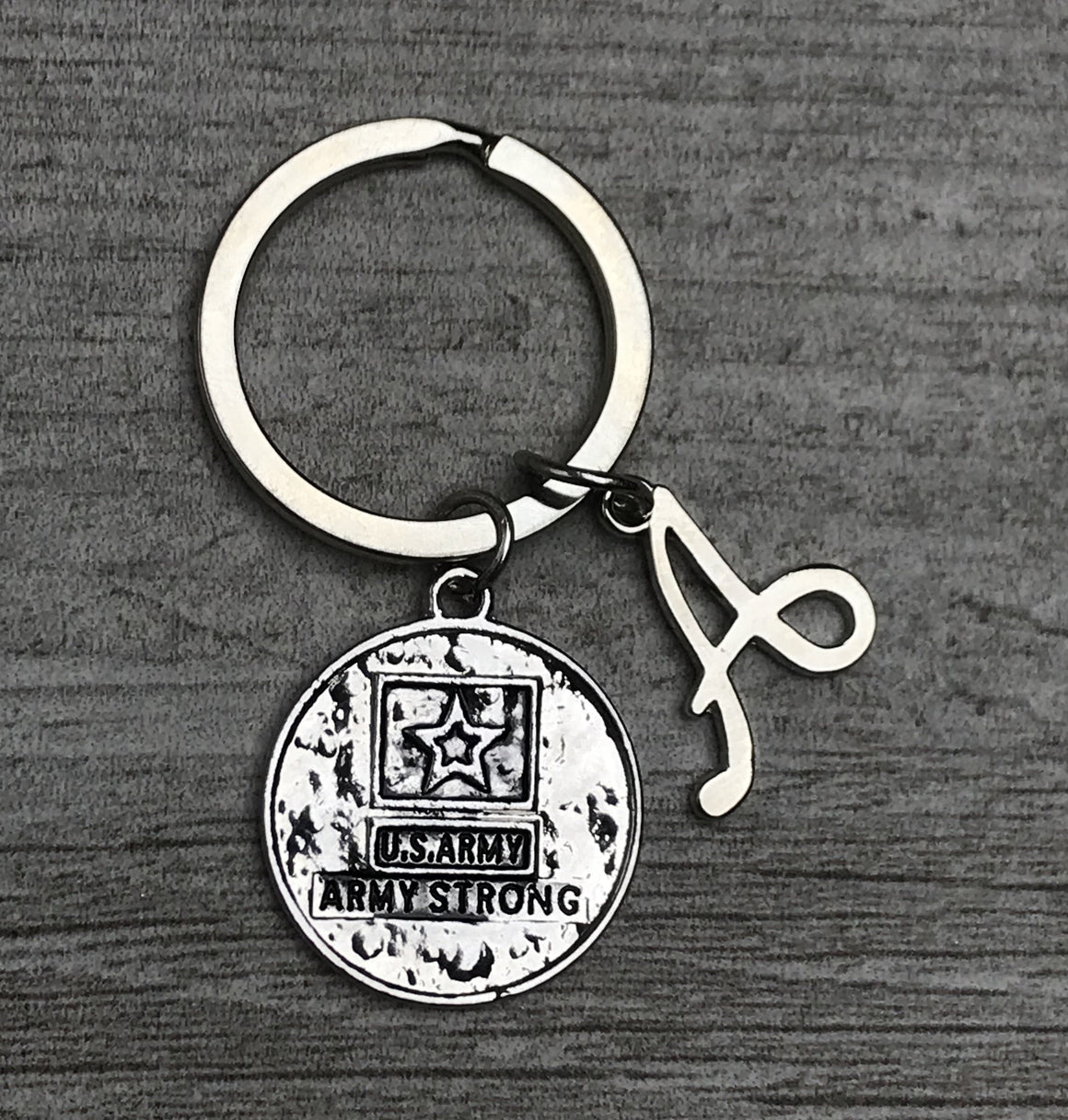 personalized army keychain