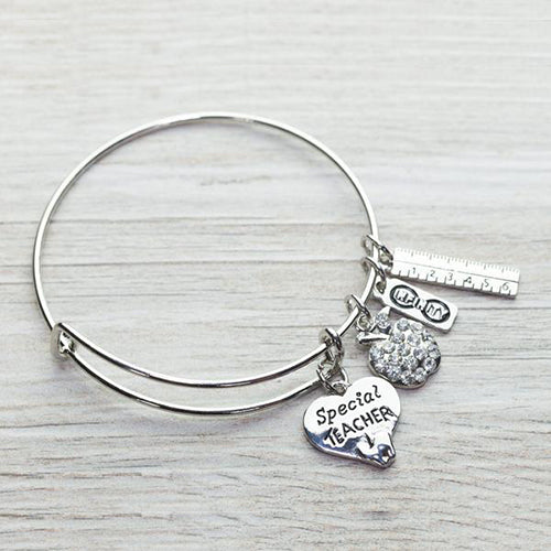 Special Teacher Bangle Bracelet