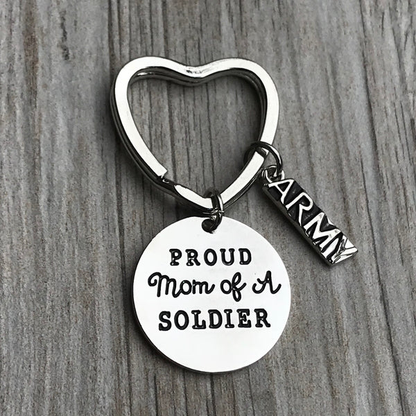 Army Mom Keychain- Proud Soldier Mom Keychain