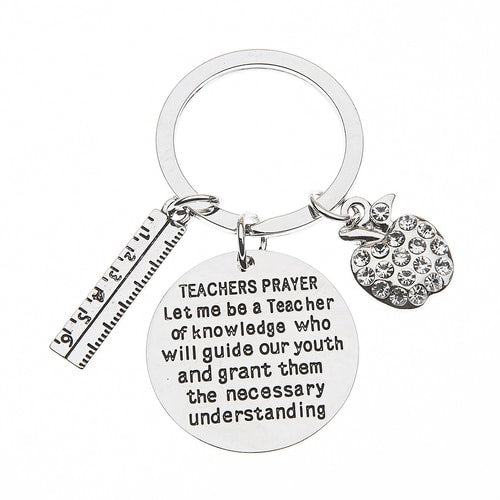 Teacher Prayer Keychain