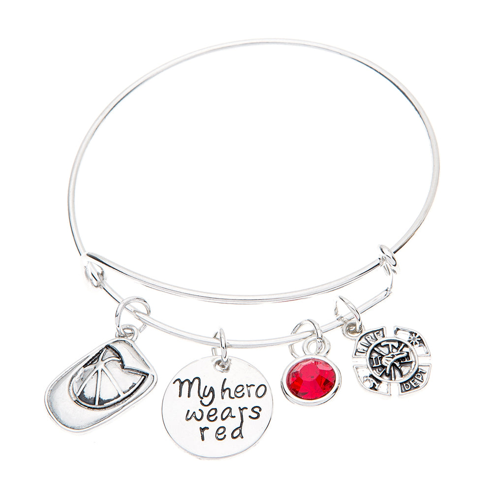 Firefighter Bangle Bracelet - My Hero Wears Red