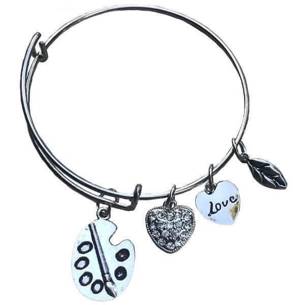Art Charm Bangle Bracelet - Infinity Collection