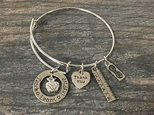 Teach Love Inspire Bangle Bracelet