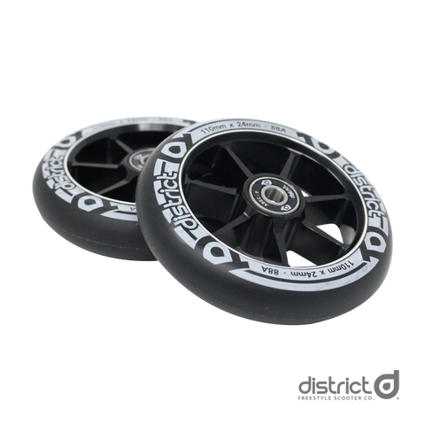 District Scooters 100mm Cast Alloy Core Twin Pack Wheels