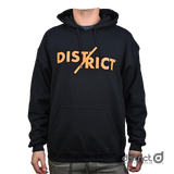 District Split Hoody - Black