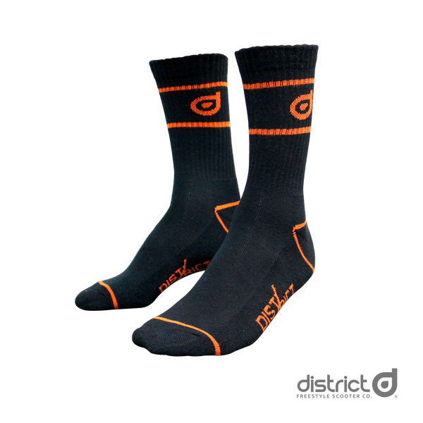 District Scooters Socks - Pack of 3 Pairs - Black