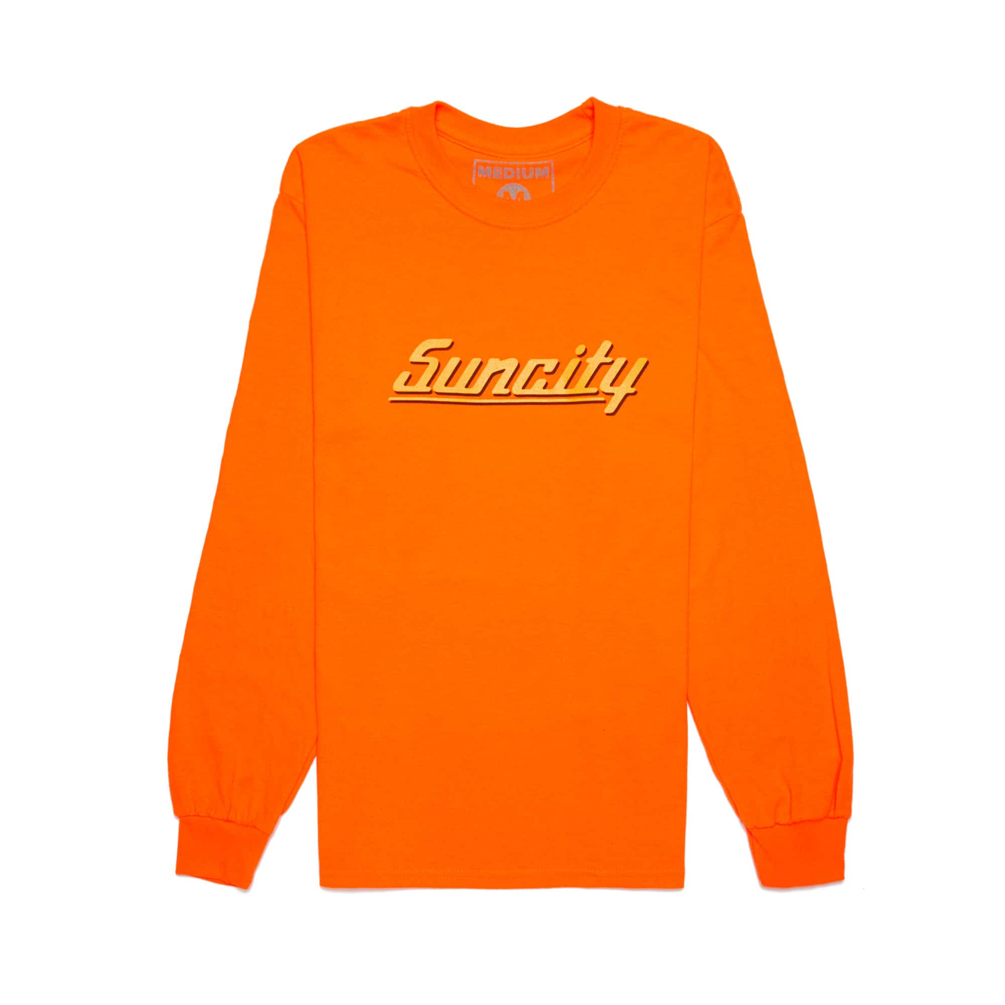 'Suncity' Long Sleeve Tee + Digital Download - Orange
