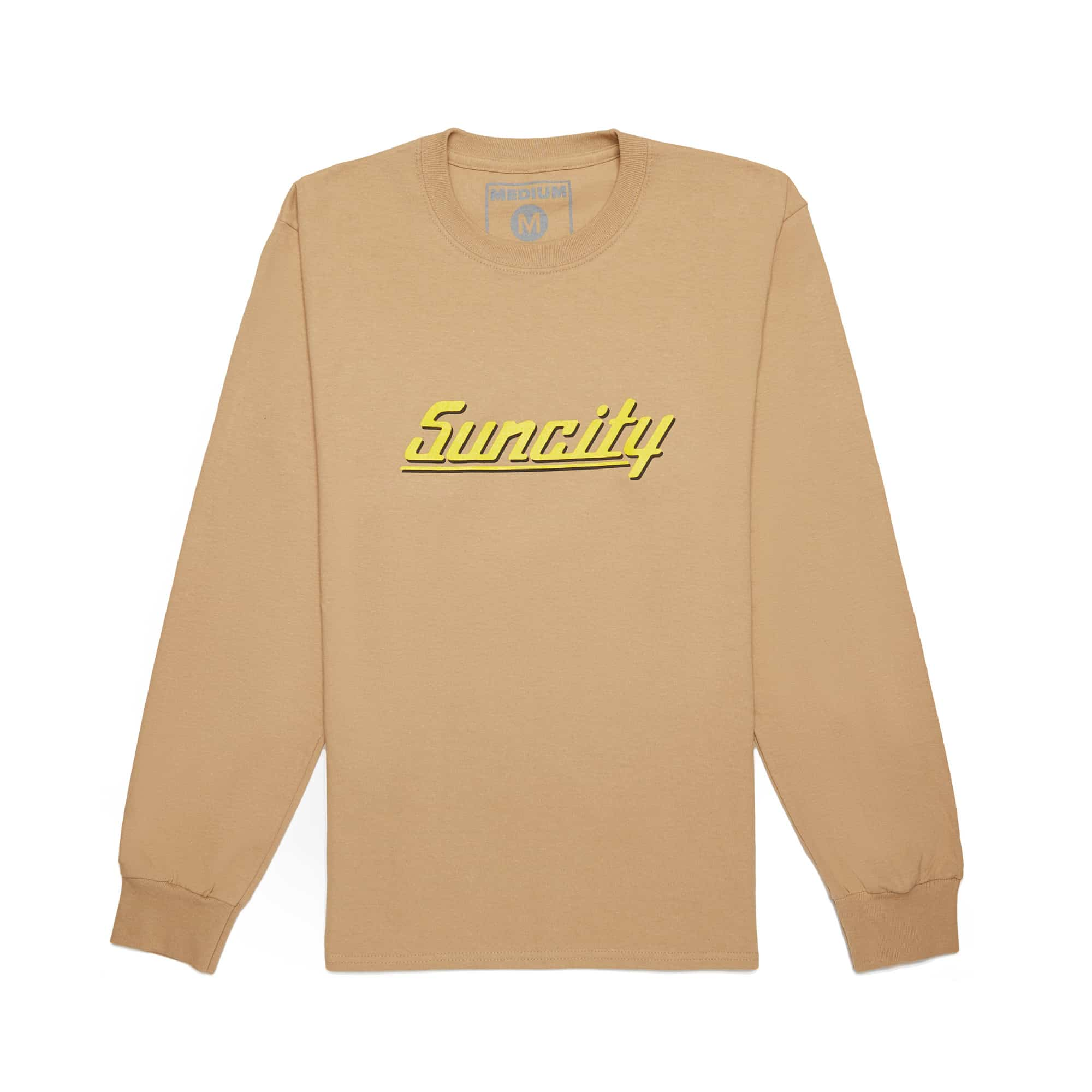 'Suncity' Long Sleeve Tee + Digital Download - Sand