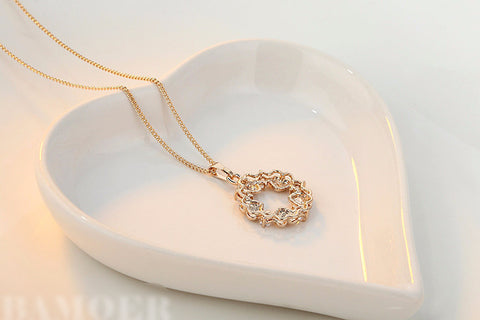 Gold Plated Hearts with  Zircon