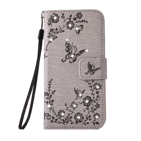Rhinestone wallet Case with flip Cover Bling Diamond Bag