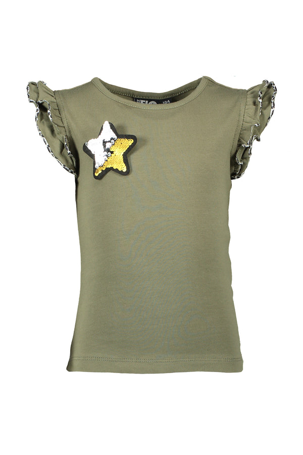 Like Flo : Khaki T-shirt T-shirt Outlet Kamélie.be