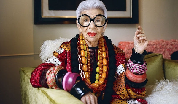 Iris Apfel, image via Who What Wear