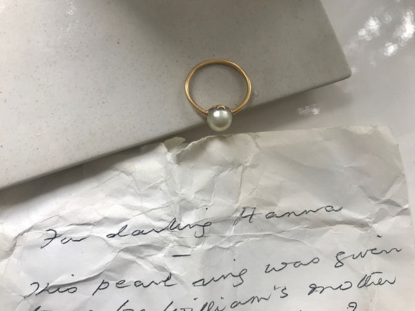 Hanna's grandmother's pearl ring
