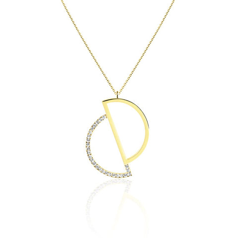 Circle Gold Swarovski Pendant Necklace by Osylia Jewellery - available at collectiveboutique.co.uk