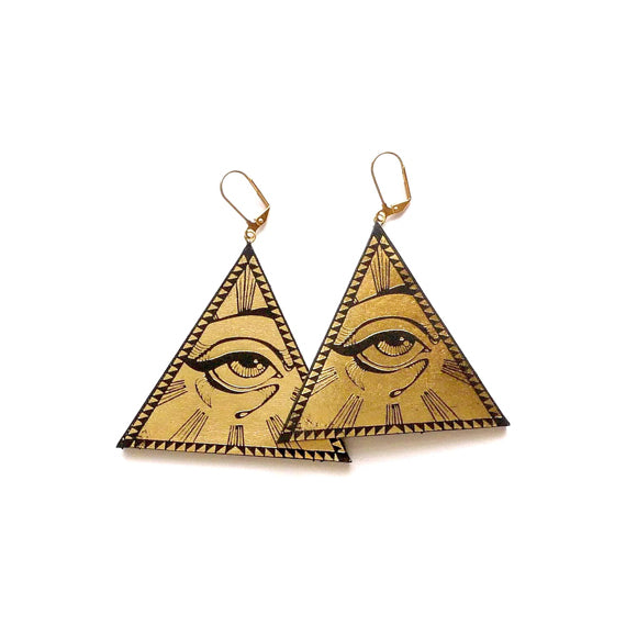 All Seeing Eye Earrings by Rosita Bonita - available at collectiveboutique.co.uk