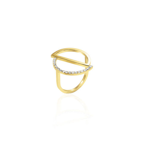 Circle Gold Swarovski Ring by Osylia Jewellery - available at collectiveboutique.co.uk
