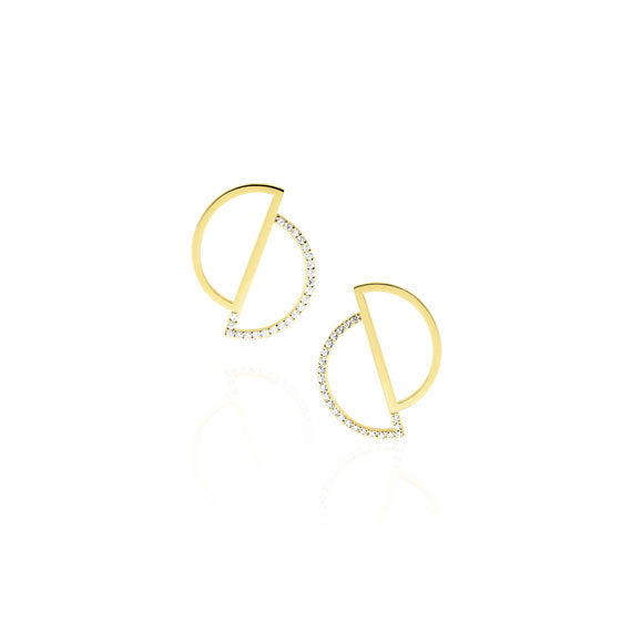 Circle Gold Swarovski Earrings by Osylia Jewellery - available at collectiveboutique.co.uk