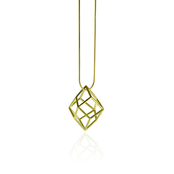 Tetra Yellow Gold Satin Necklace by Osylia - available at collectiveboutique.co.uk