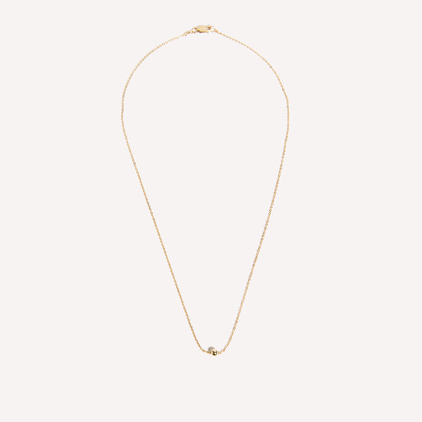 Amarilo Jewelry - minimal gold necklace with ball detail