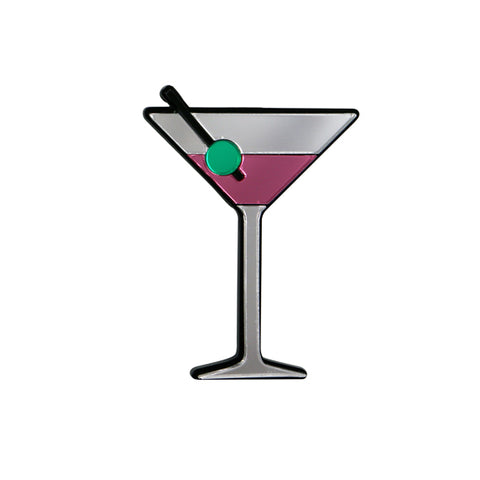 Shaken Not Stirred Martini Brooch