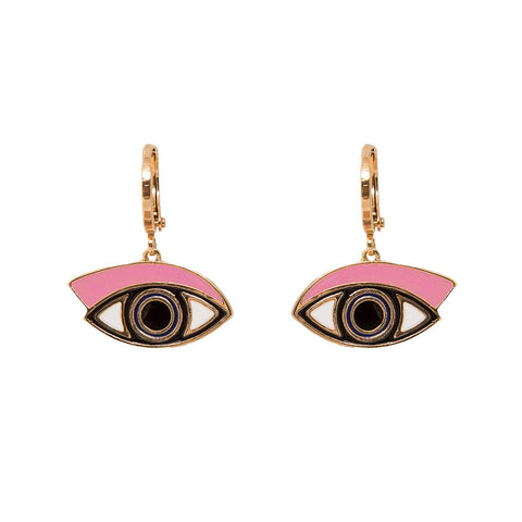 Eye See You Hoop Earrings