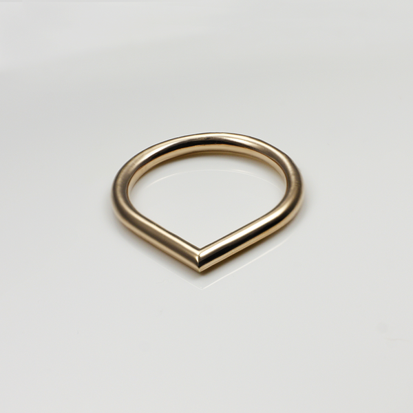 rose gold minimal ring